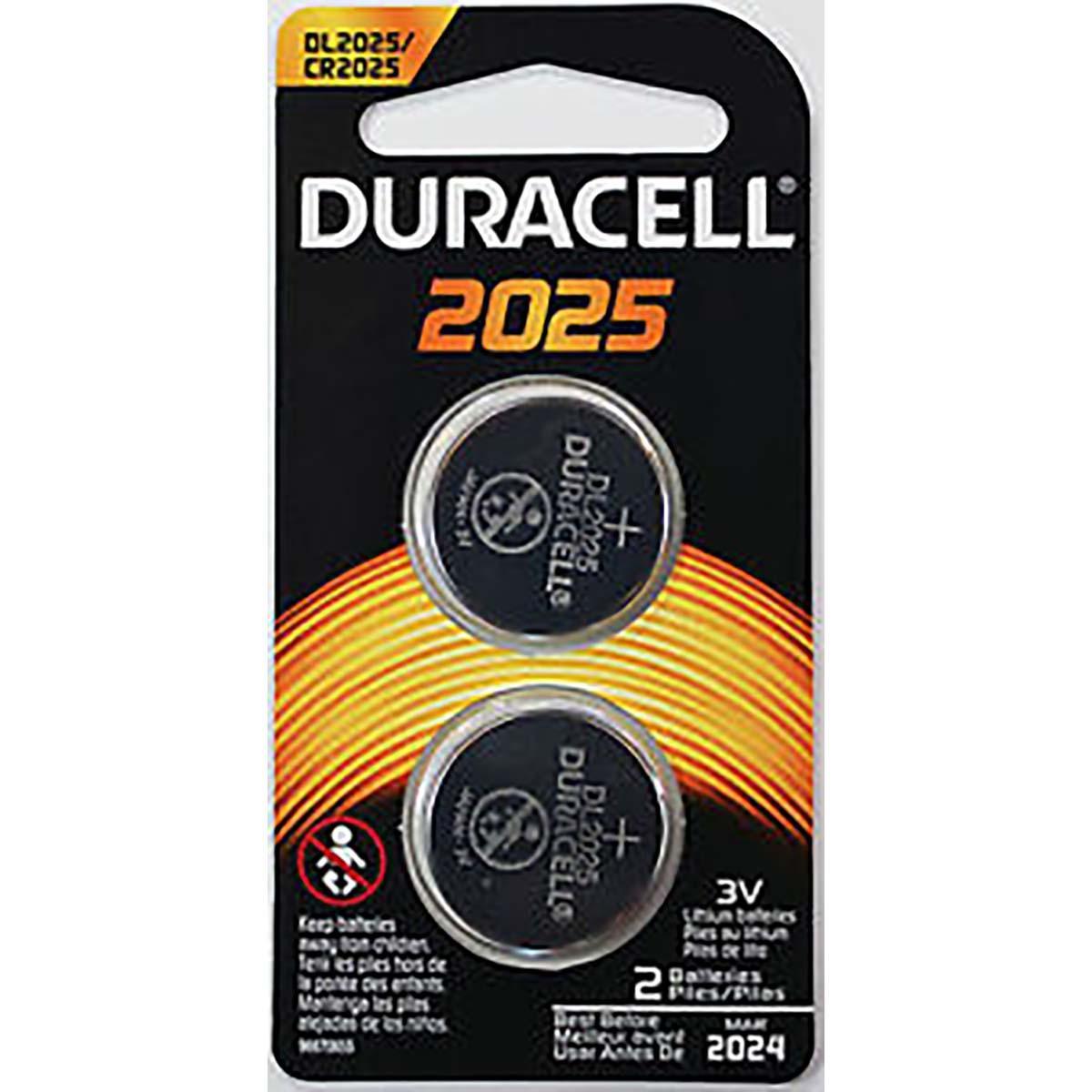DURACELL 3V  COIN LITHIUM 2025 - 2PK