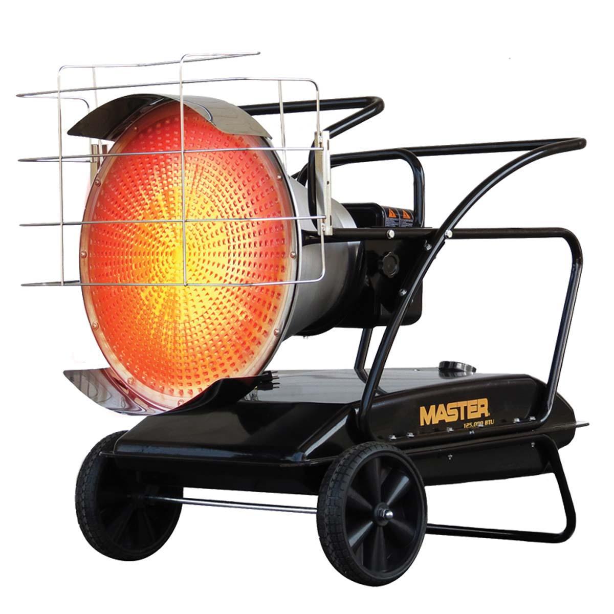 MASTER 125,000 BTU Kerosene/Diesel Radiant Heater