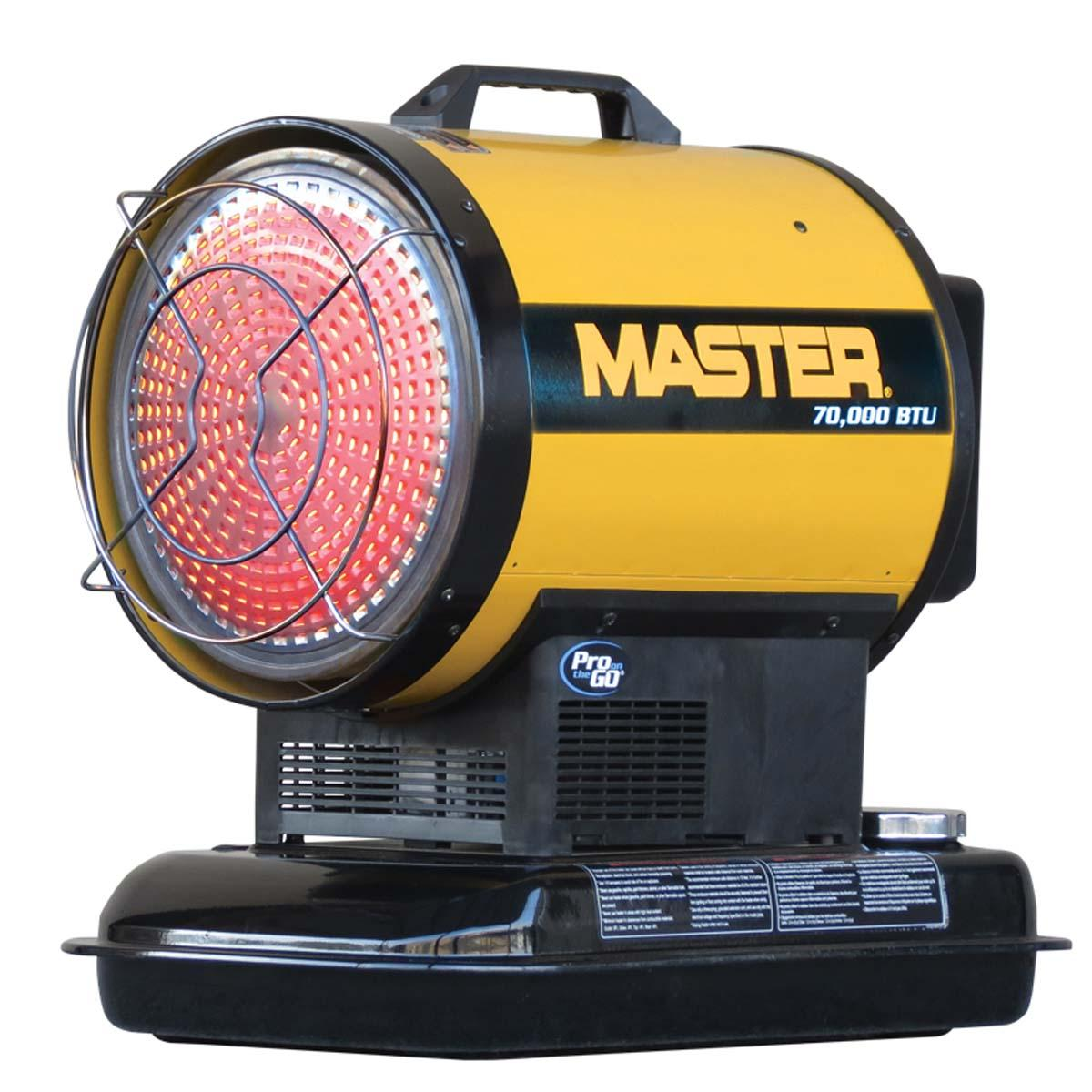 MASTER 70,000 BTU Kerosene/Diesel Radiant Heater