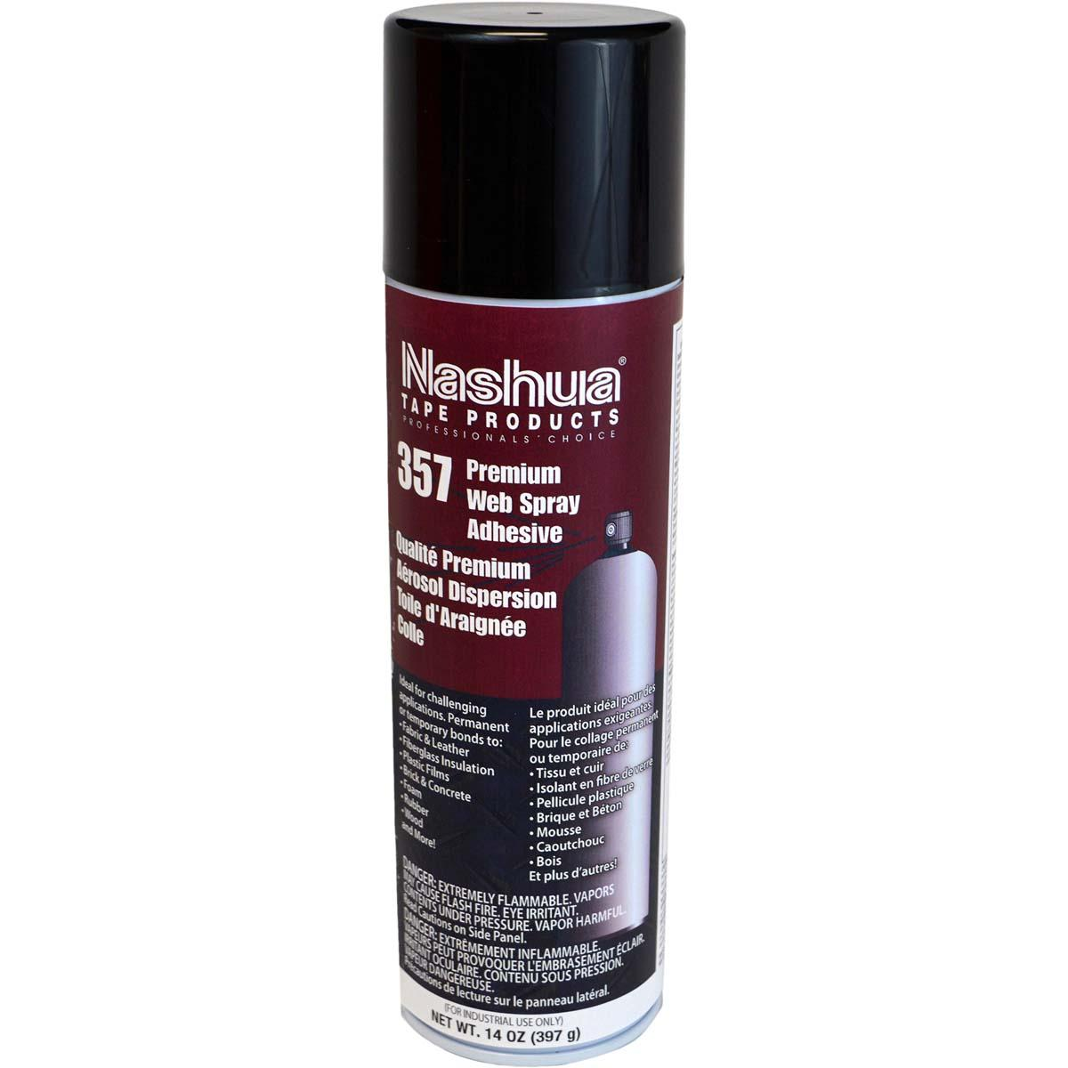 Nashua 357 Premium Web Spray Adhesive 14oz Net Wt, 19.6 FL OZ