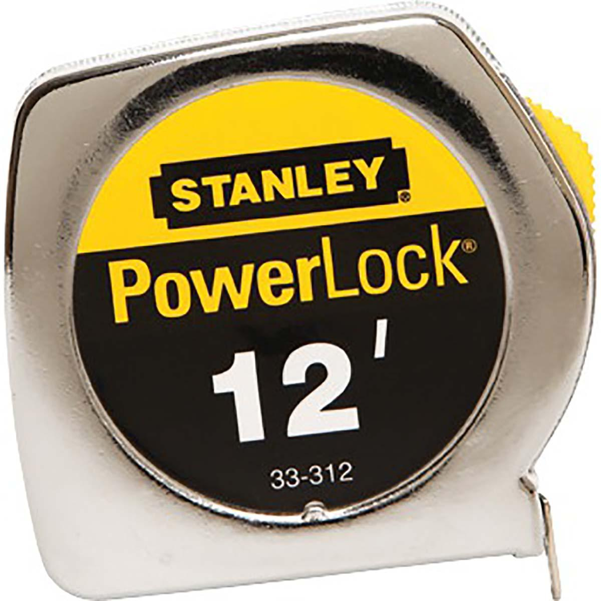 "STANLEY® POWERLOCK® TAPE RULE W/ METAL CASE 3/4"" X 12'"