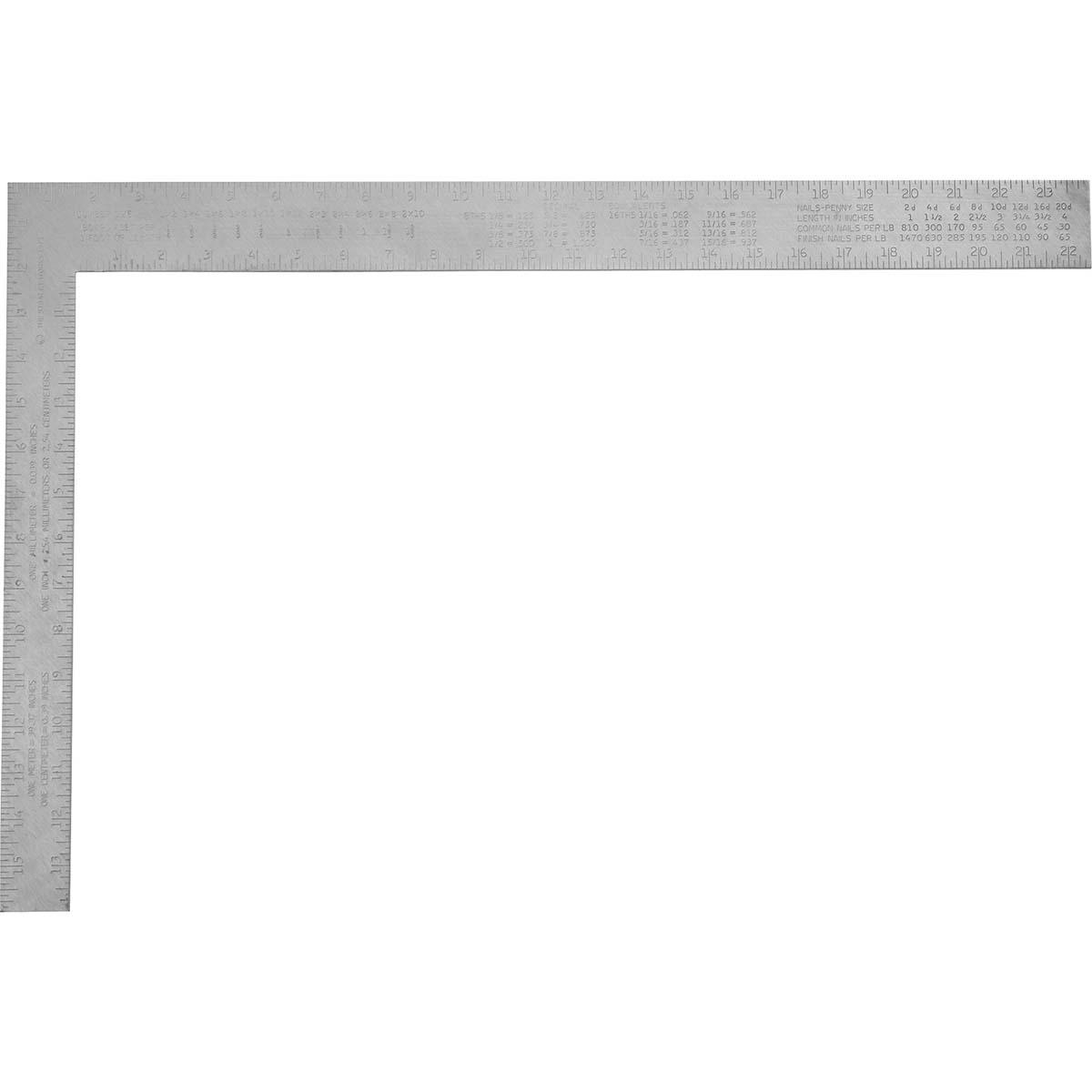 """STANLEY® ALUMINUM CARPENTER'S SQUARE – 16"""" X 24"""""""