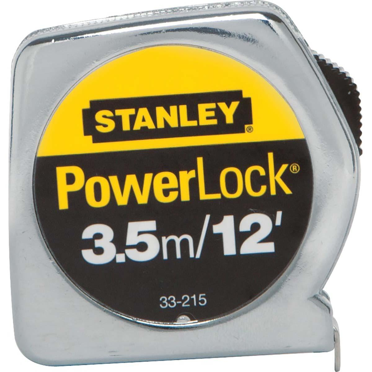 "STANLEY® POWERLOCK® TAPE RULE W/ METAL CASE 1/2"" X 3.5M/12'"