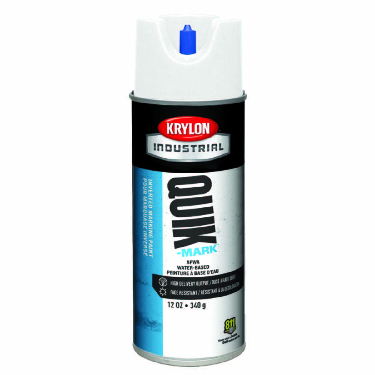 "Quik-Markâ""¢ Water-Based Inverted Marking Paint, APWA Brilliant White"