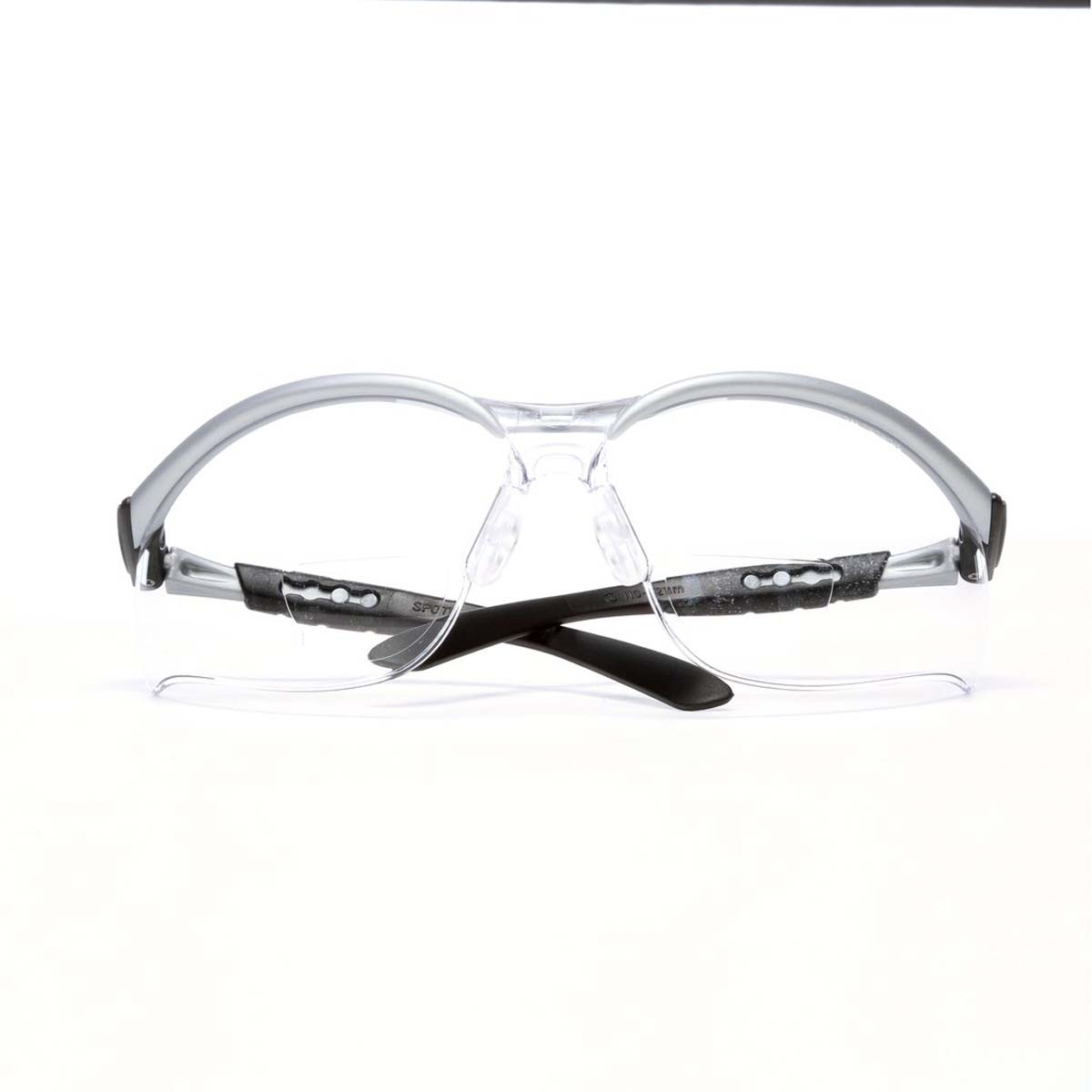 "3Mâ""¢ BXâ""¢ Reader Protective Eyewear 11376-00000-20, Clear Lens, Silver Frame, +2.5 Diopter"