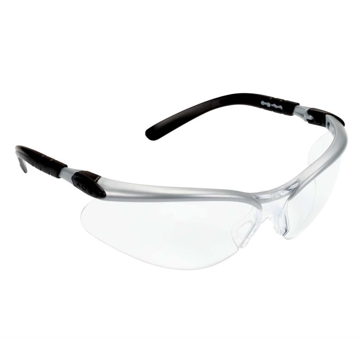 "3Mâ""¢ BXâ""¢ Protective Eyewear 11380-00000-20 Clear Anti-Fog Lens, Silver/Black Frame"