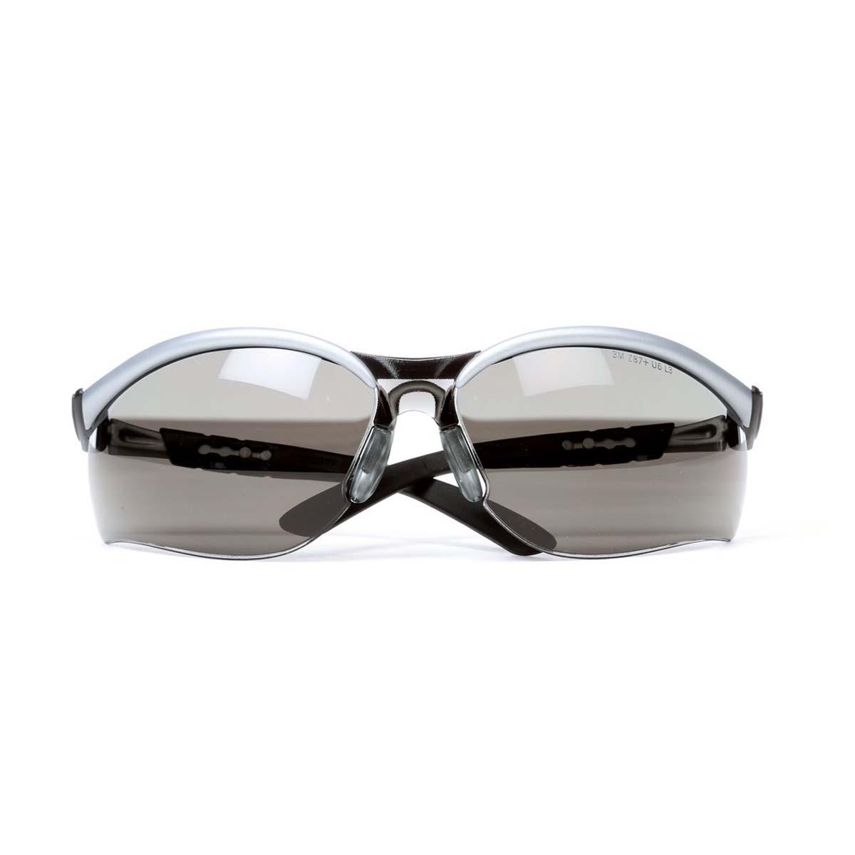 "3Mâ""¢ BXâ""¢ Protective Eyewear 11381-00000-20 Gray Anti-Fog Lens, Silver/Black Frame"