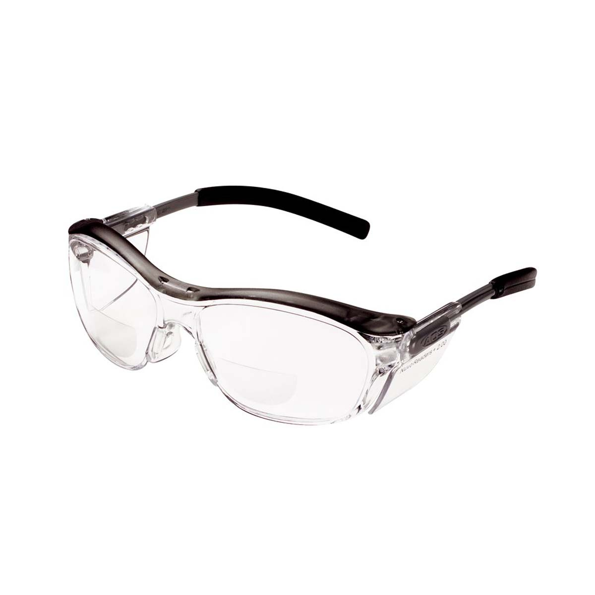 """3Mâ""""¢ Nuvoâ""""¢ Reader Protective Eyewear 11435-00000-20 Clear Lens, Gray Frame, +2.0 Diopter"""