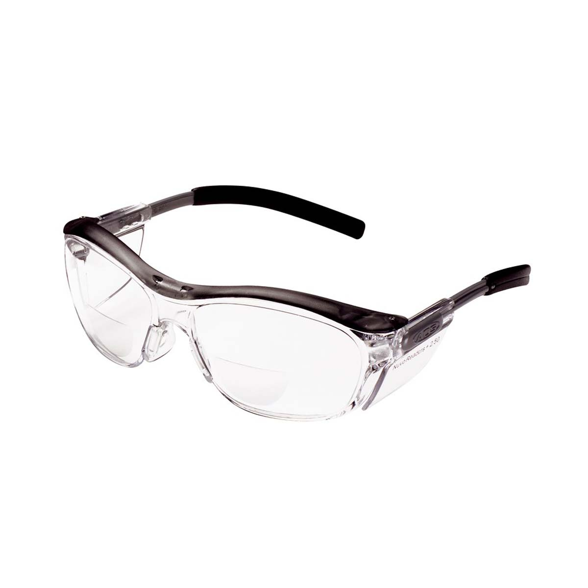 "3Mâ""¢ Nuvoâ""¢ Reader Protective Eyewear 11436-00000-20 Clear Lens, Gray Frame, +2.5 Diopter"