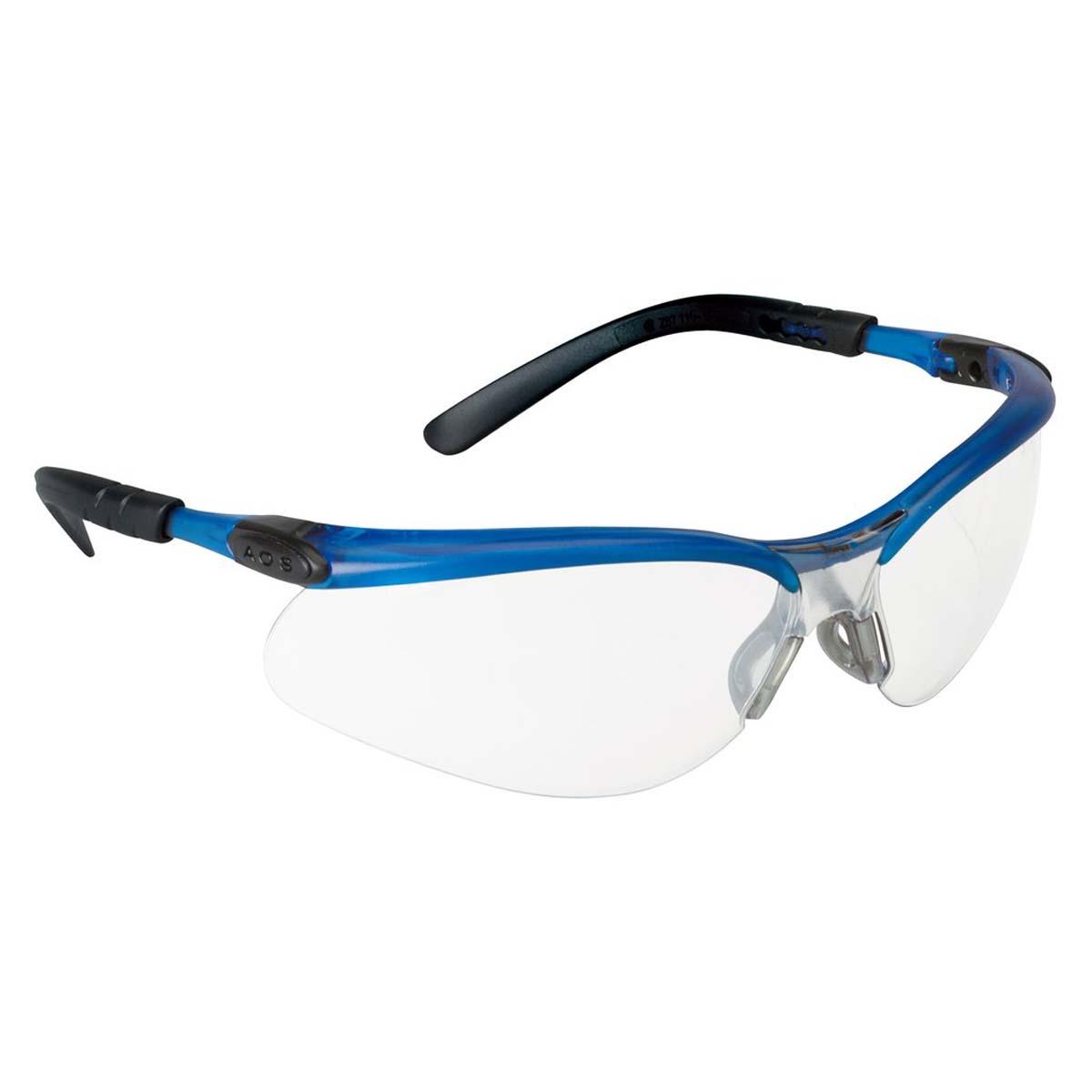 """3Mâ""""¢ BXâ""""¢ Protective Eyewear 11471-00000-20 Clear Anti-Fog Lens, Ocean Blue Frame"""