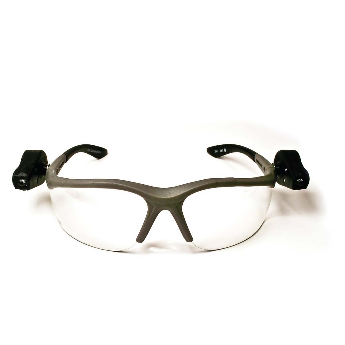 "3Mâ""¢ Light Visionâ""¢ 2 Protective Eyewear 11476-00000-10 Clear Anti-Fog Lens, Gray Frame, Lights"