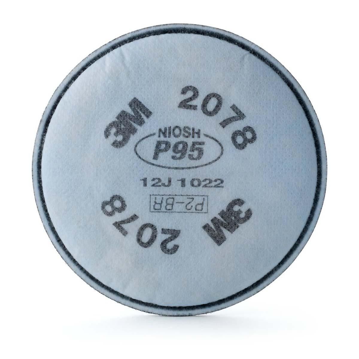 """3Mâ""""¢ Particulate Filter 2078, P95, with Nuisance Level Organic Vapor/Acid Gas Relief"""