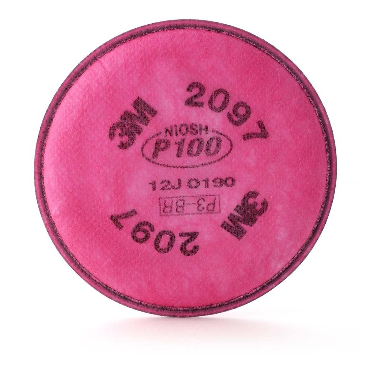 "3Mâ""¢ Particulate Filter 2097/07184(AAD), P100, with Nuisance Level Organic Vapor Relief"