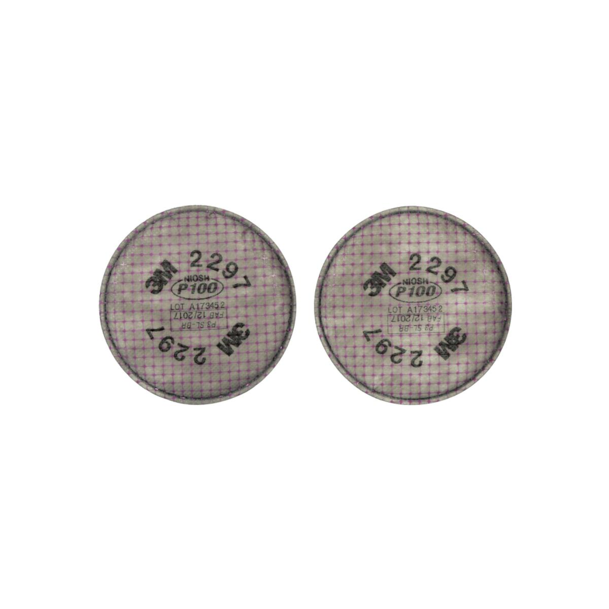 """3Mâ""""¢ Advanced Particulate Filter 2297, P100, with Nuisance Level Organic Vapor Relief"""