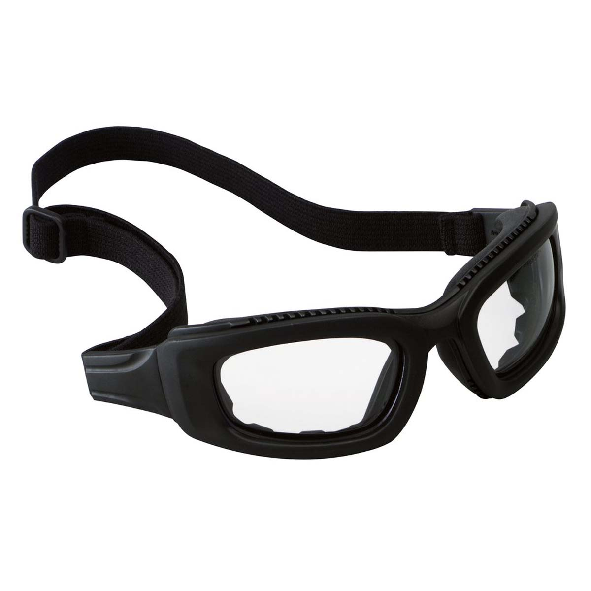 "3Mâ""¢ Maximâ""¢ 2x2 Safety Goggles 40686-00000-10 Clear Anti-Fog Lens, Black Frame, Elastic Strap"