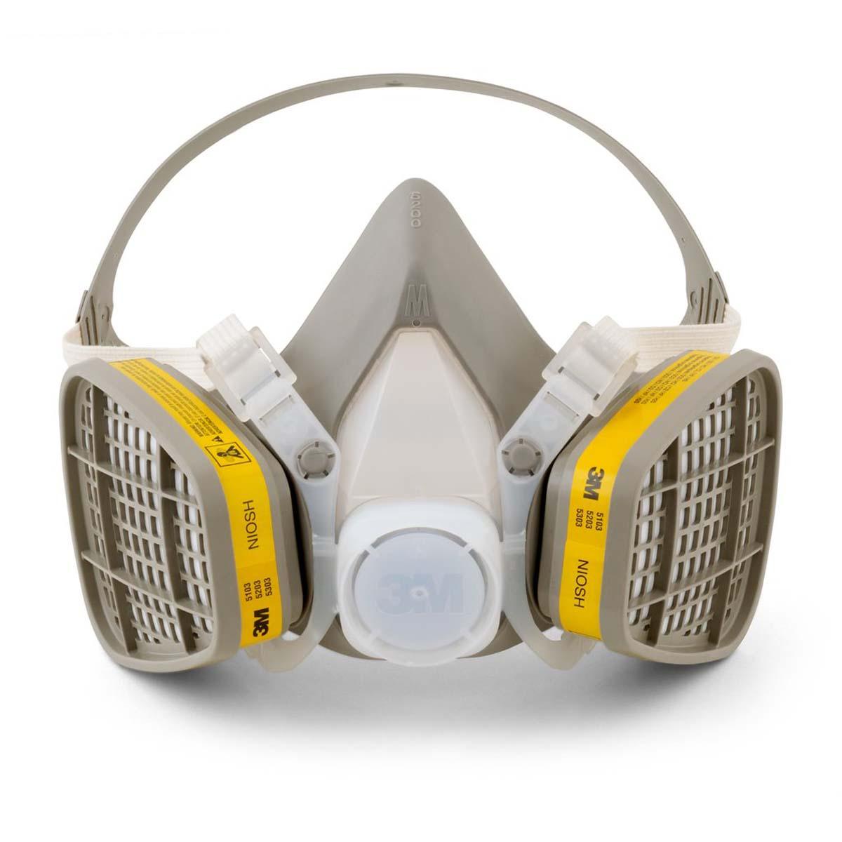 """3Mâ""""¢ Half Facepiece Disposable Respirator Assembly 5203, Organic Vapor/Acid Gas, Medium"""