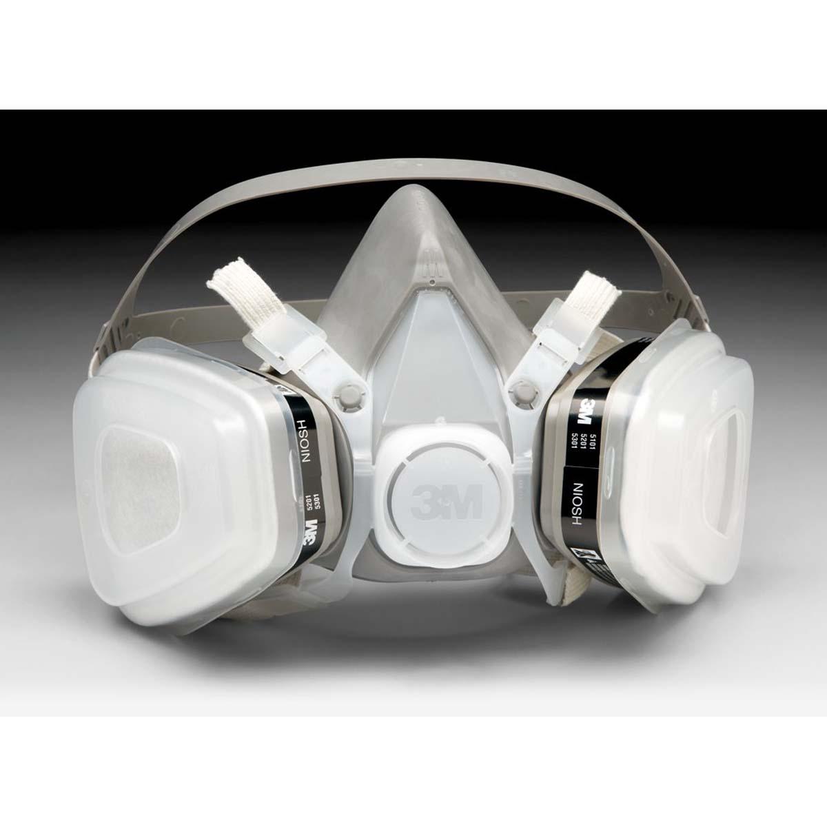 3M Half Facepiece Disposable Respirator Assembly 52P71, Organic Vapor/P95, Medium