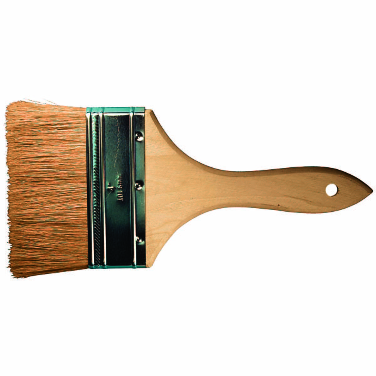 "4"" Chip Brush, Double Thick, White Bristle 2-1/2"" Trim, Wood Handle"