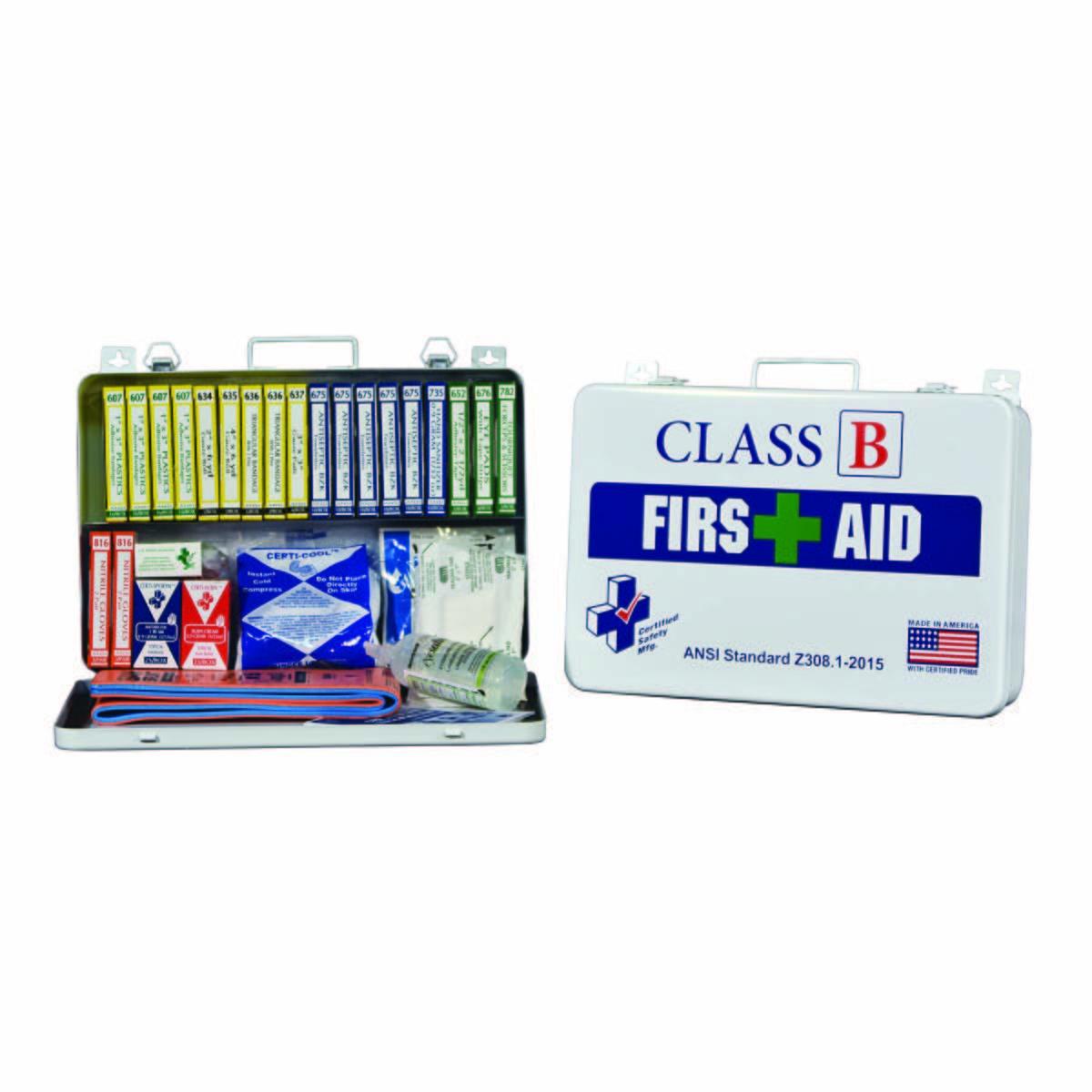 Class B ANSI First Aid Kit - Metal