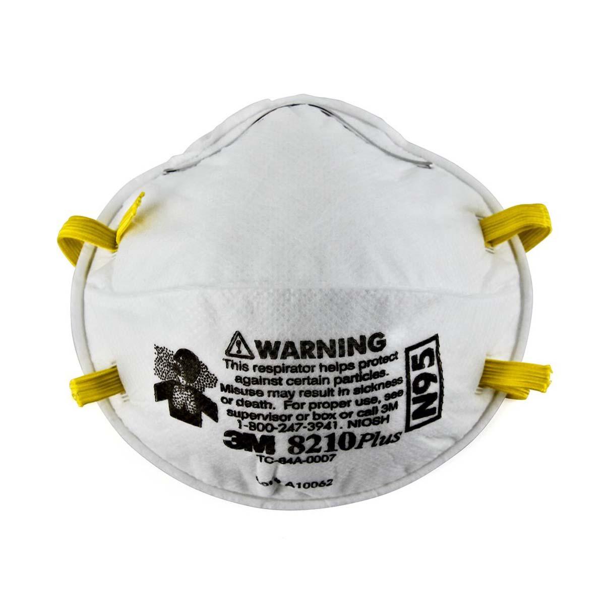 """3Mâ""""¢ Particulate Respirator 8210Plus, N95"""