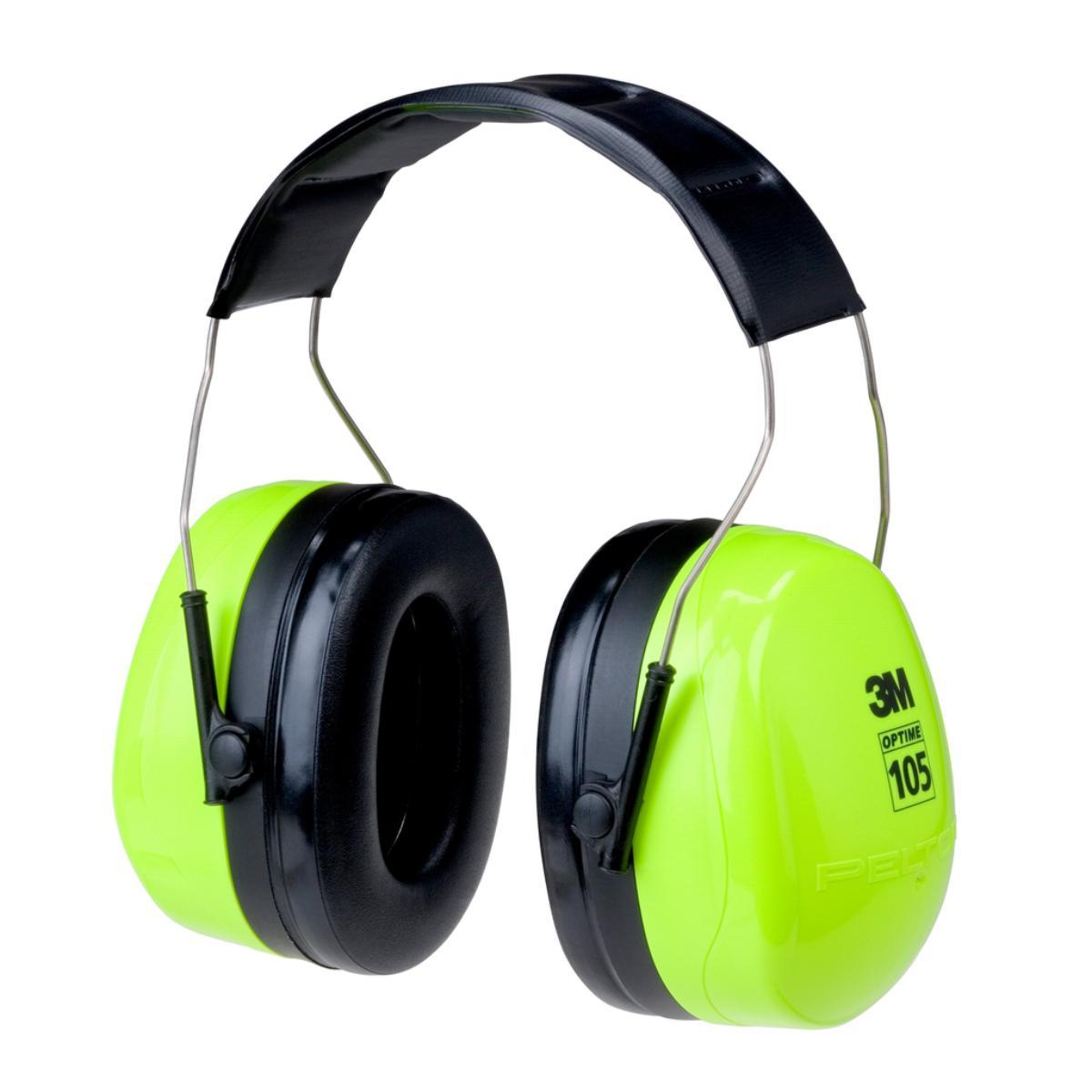"""3Mâ""""¢ PELTORâ""""¢ Optimeâ""""¢ 105 Over-the-Head Earmuffs H10A HV"""