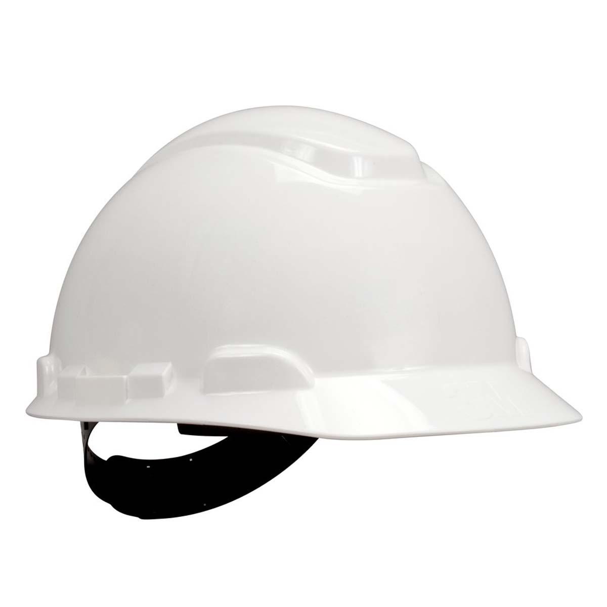 """3Mâ""""¢ Hard Hat H-701P, White 4-Point Pinlock Suspension,"""