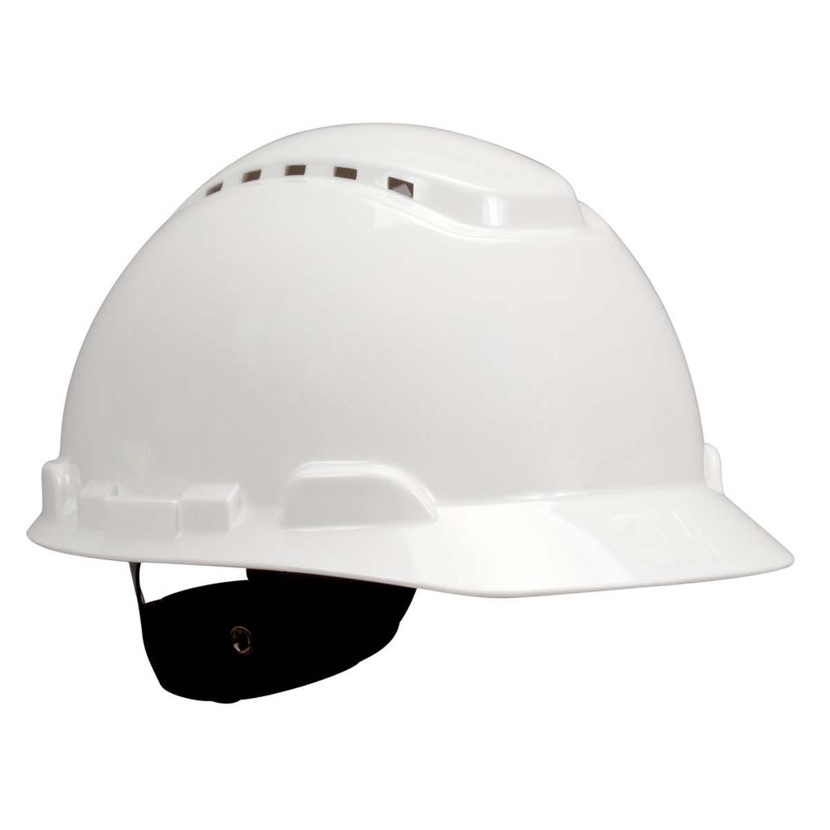 "3Mâ""¢ Hard Hat H-701V, Vented White 4-Point Ratchet Suspension,"