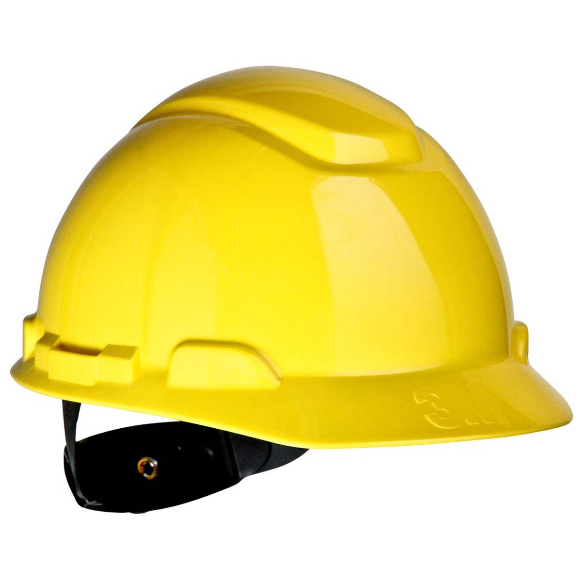 "3Mâ""¢ Hard Hat H-702R, Yellow 4-Point Ratchet Suspension,"