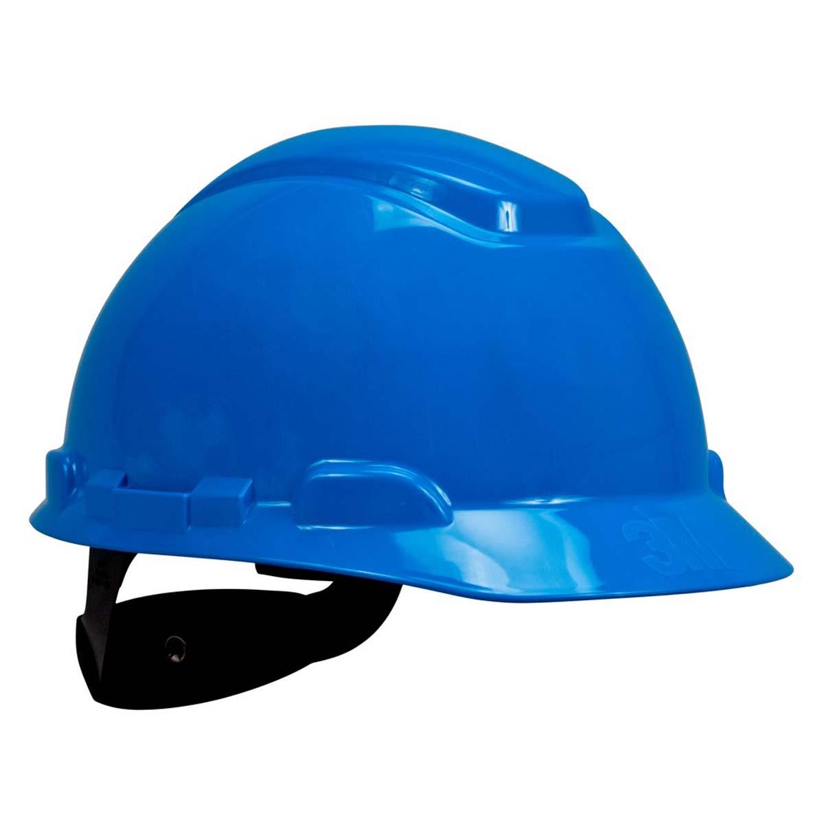 3M Hard Hat H-703R, Blue 4-Point Ratchet Suspension,