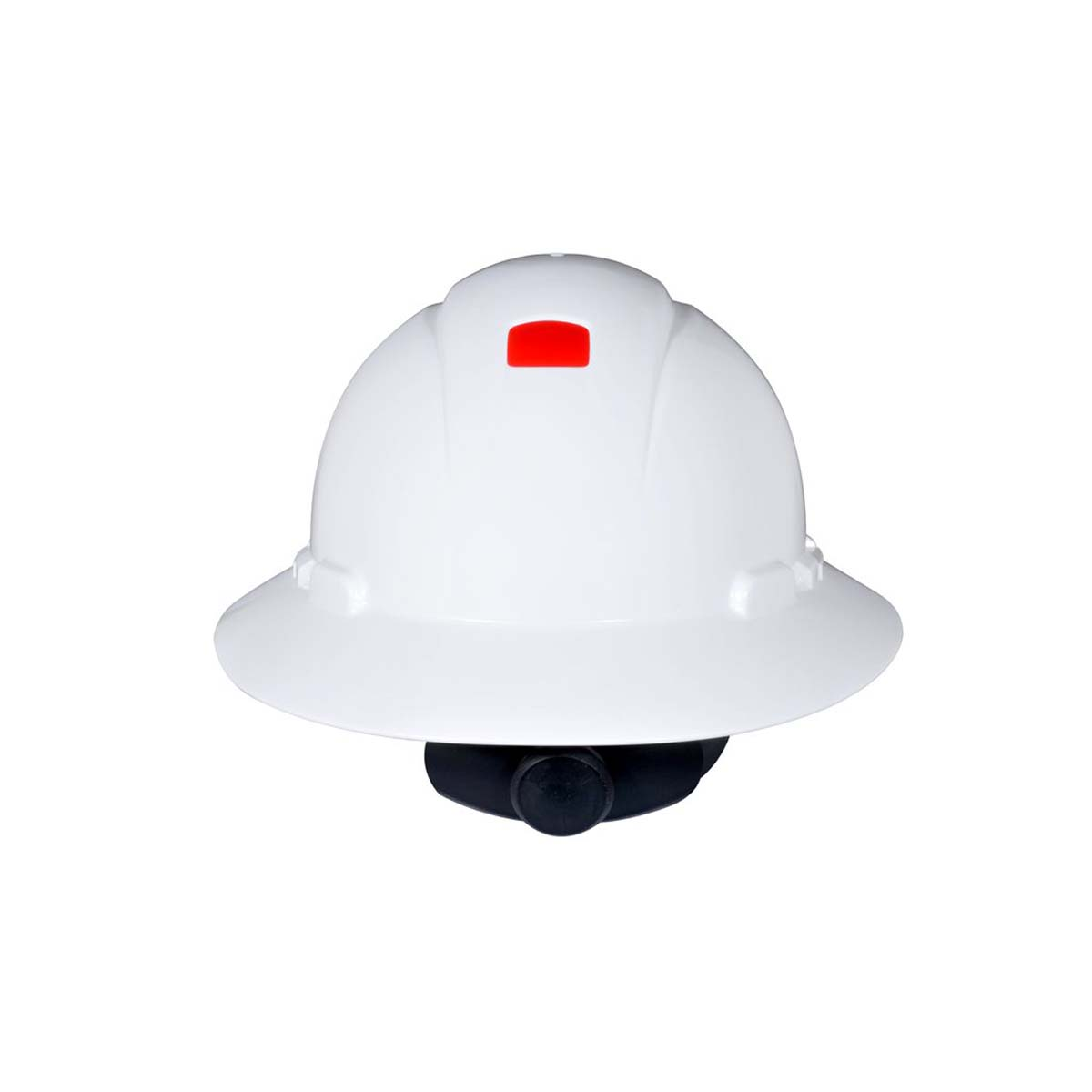"3Mâ""¢ Full Brim Hard Hat H-801R-UV, White 4-Point Ratchet Suspension, with Uvicator,"