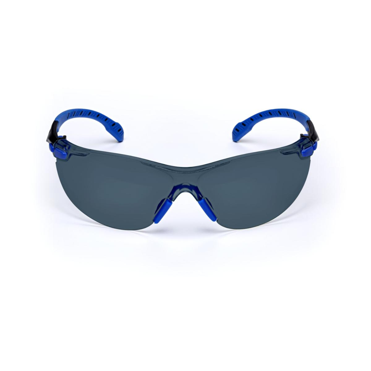 "3Mâ""¢ Solusâ""¢ 1000-Series S1102SGAF, Black/Blue, Grey Scotchgardâ""¢ Anti-fog Lens"