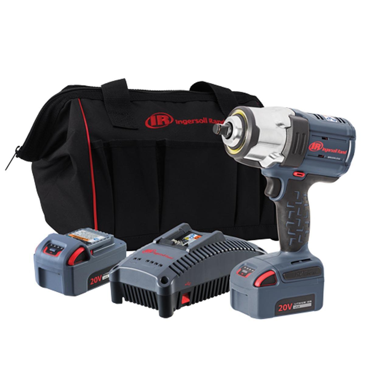 1/2-In Drive 20-Volt Cordless Impact Wrench Kit with 2 Batteries - 1500 Ft-Lbs Max Torque