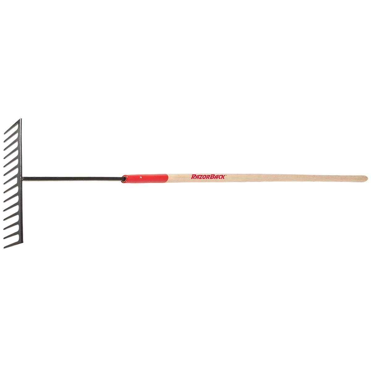 Ames Razor Back 63121 Heavy Duty Road Rake, 15-1/2 In W X 4 In L Head, 14 Tine, 66 In Handle
