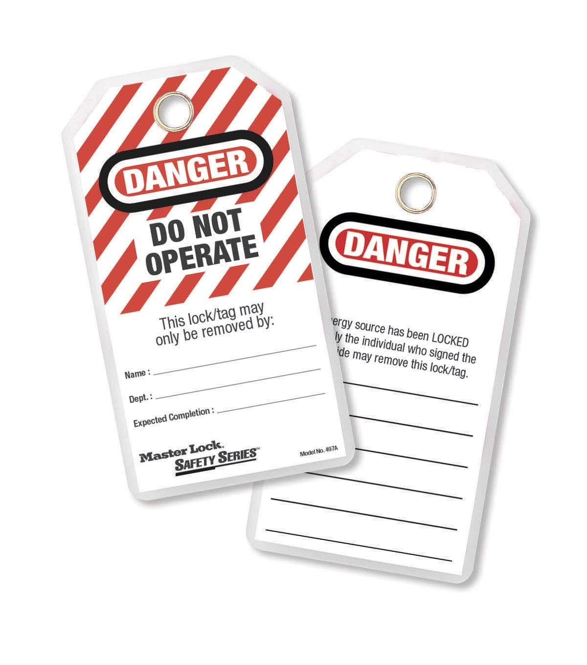 Laminated Safety Tag