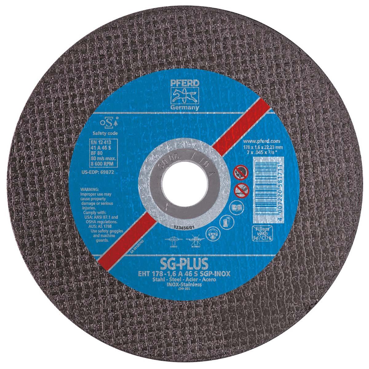 """3"""" x .045"""" Die Grinder Wheel, 3/8"""" AH A S SGP-INOX - 46 Grit - Type 1"""