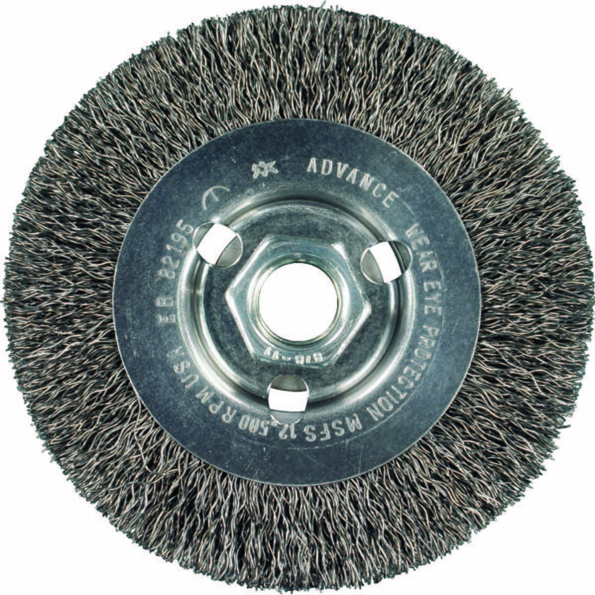 "4-1/2"" Stringer Bead Wheel .020 CS Wire, 5/8-11 Thread"