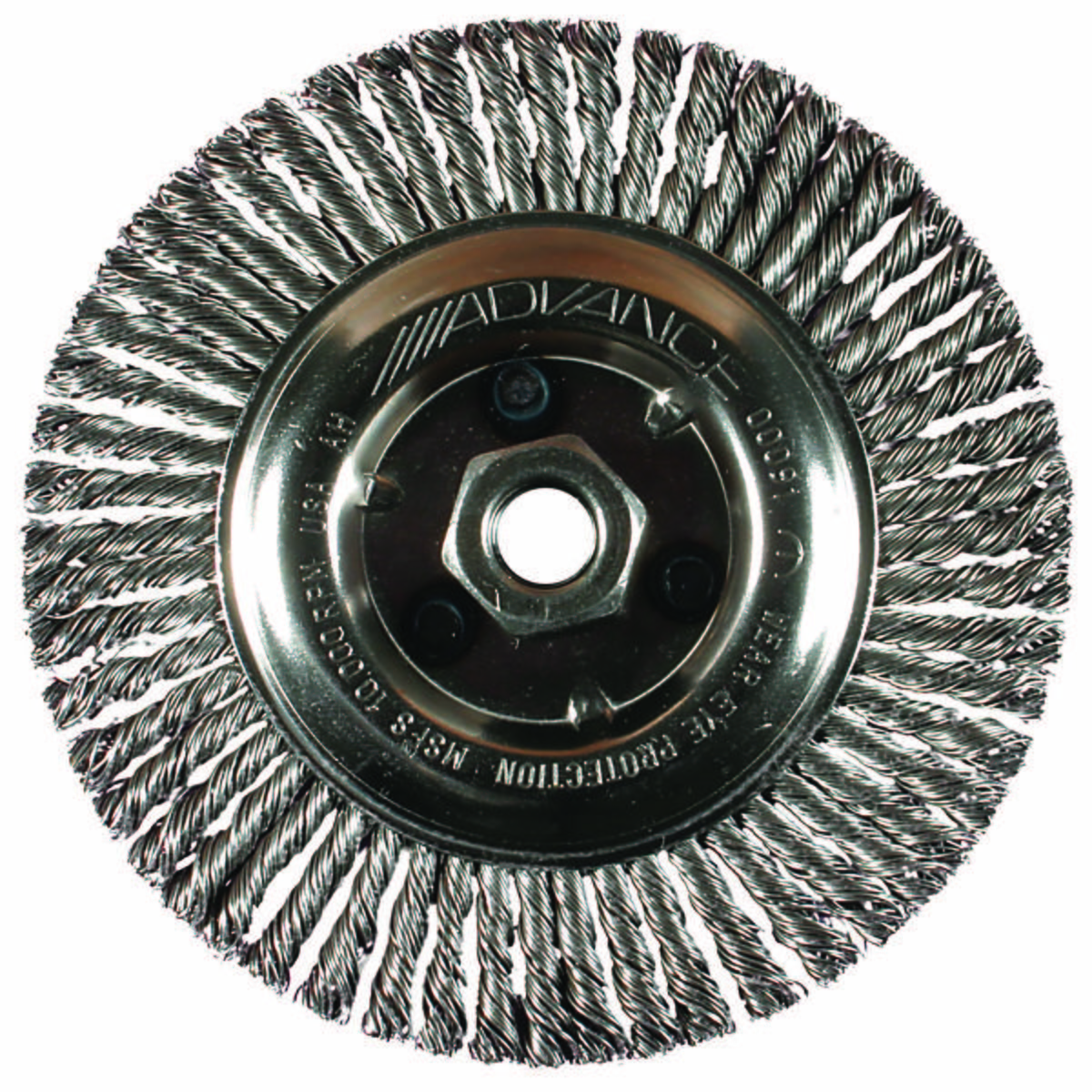 "4"" Stringer Bead Wheel .020 CS Wire, 5/8-11 Thread"