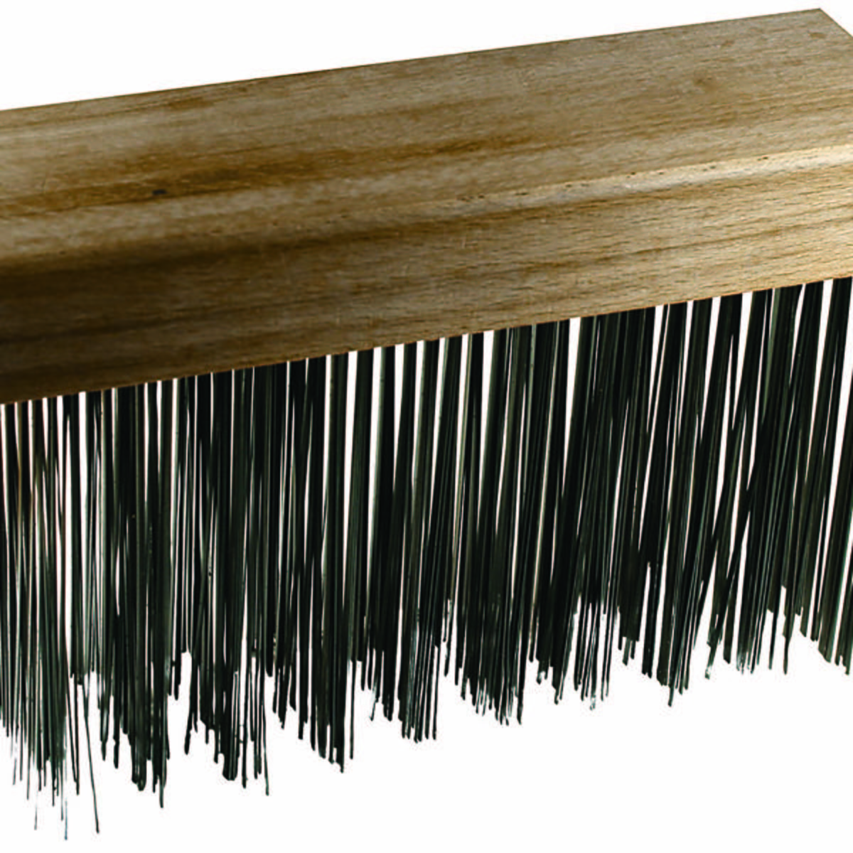 "Flat Wire Block Brush, Straight Back 5 x 10 Rows, CS Wire, 1-1/4"" trim"