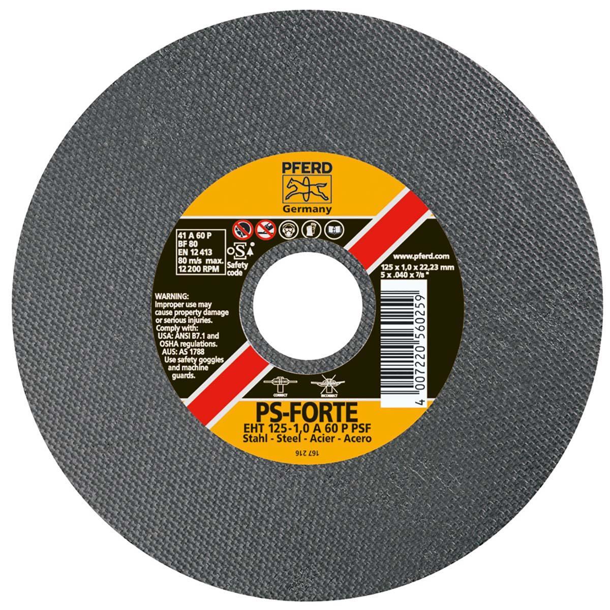"""4"""" x .035"""" Die Grinder Wheel, 3/8"""" AH A-PSF 60 Grit - Type 1"""