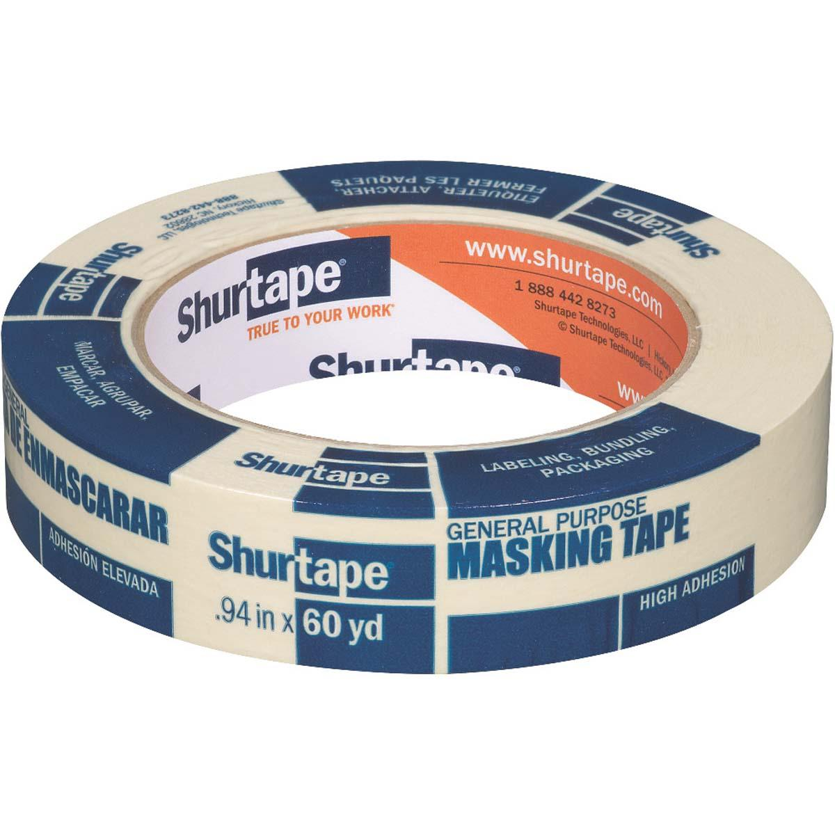 CP 105 General Purpose Grade, Medium-High Adhesion Masking Tape - NATURAL - 24MM x 55M