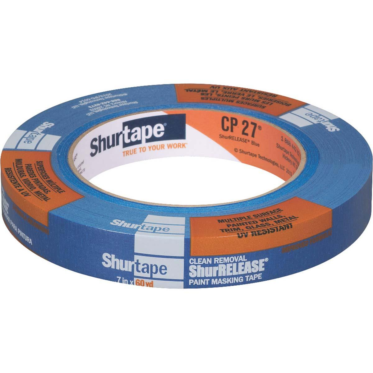 CP 27® 14-Day ShurRELEASE® Painter's Tape - Multi-Surface - BLUE - 18MM x 55M