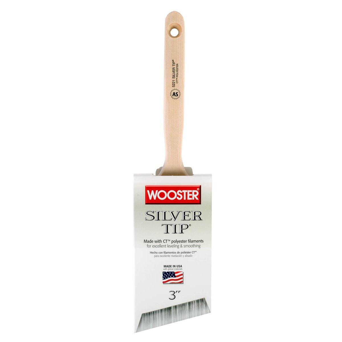 "3"""" Silver Tip Angle Sash CT polyester paintbrush"
