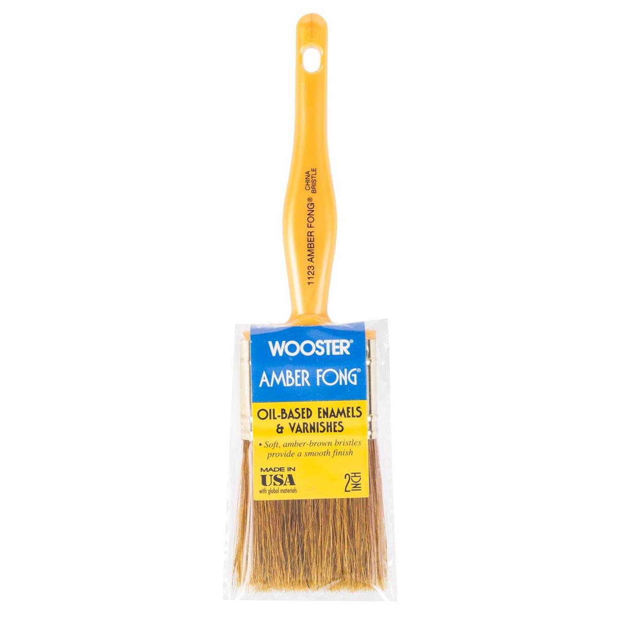 """2"""" Amber Fong Brown China Bristle paintbrush"""