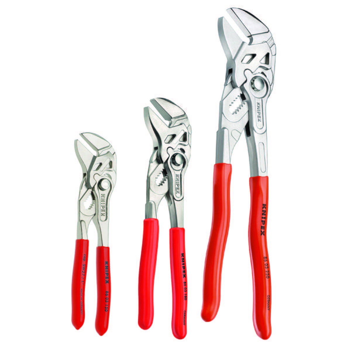 "3 Pc Pliers Wrench Set (6"", 7"", 10"")"