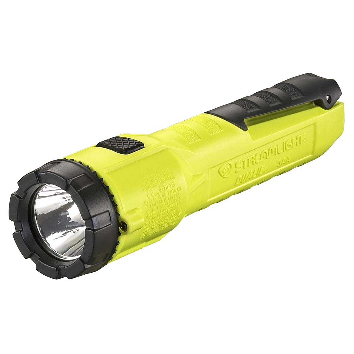 "Dualie 3AA with 3 ""AA"" alkaline batteries. Clam - Yellow"