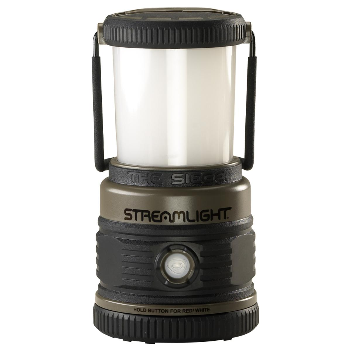 The Siege® AA lantern features one C4® power LED, and two red LEDs - Coyote