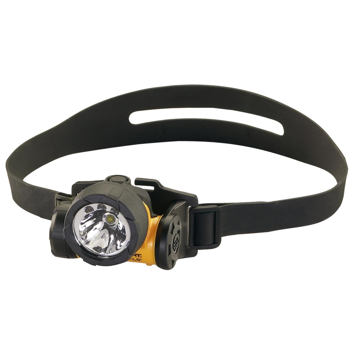Trident HAZ-LO Div. 1 with White LEDs, alkaline batteries. Rubber & Elastic straps. Yellow