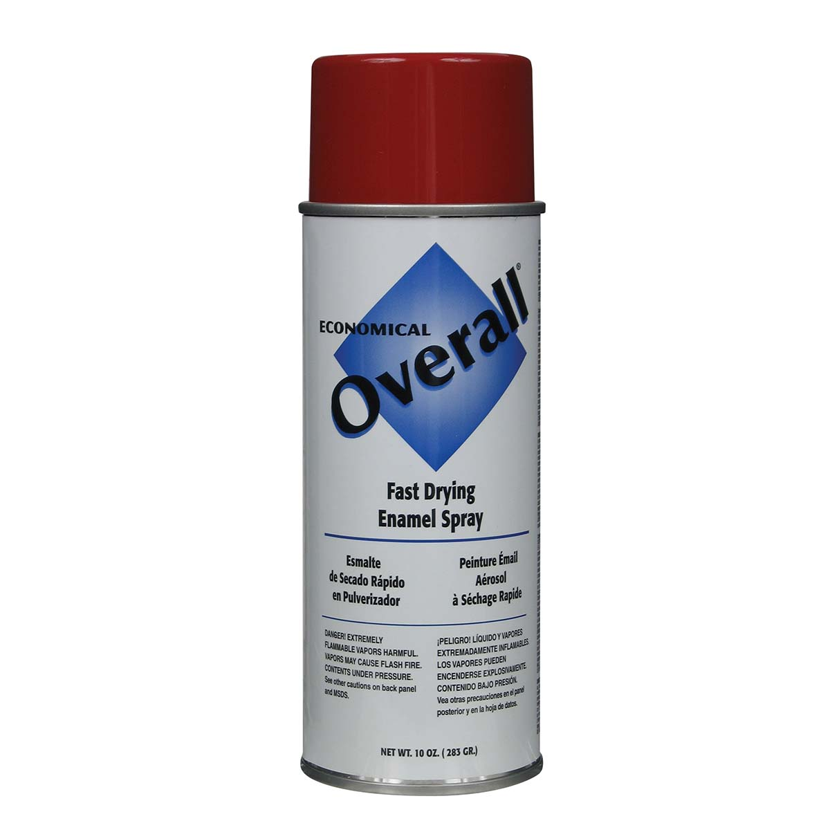 Rust-Oleum V2407830 Overall Economical Fast Drying Enamel Aerosols - Pack of 6 GLOSS RED