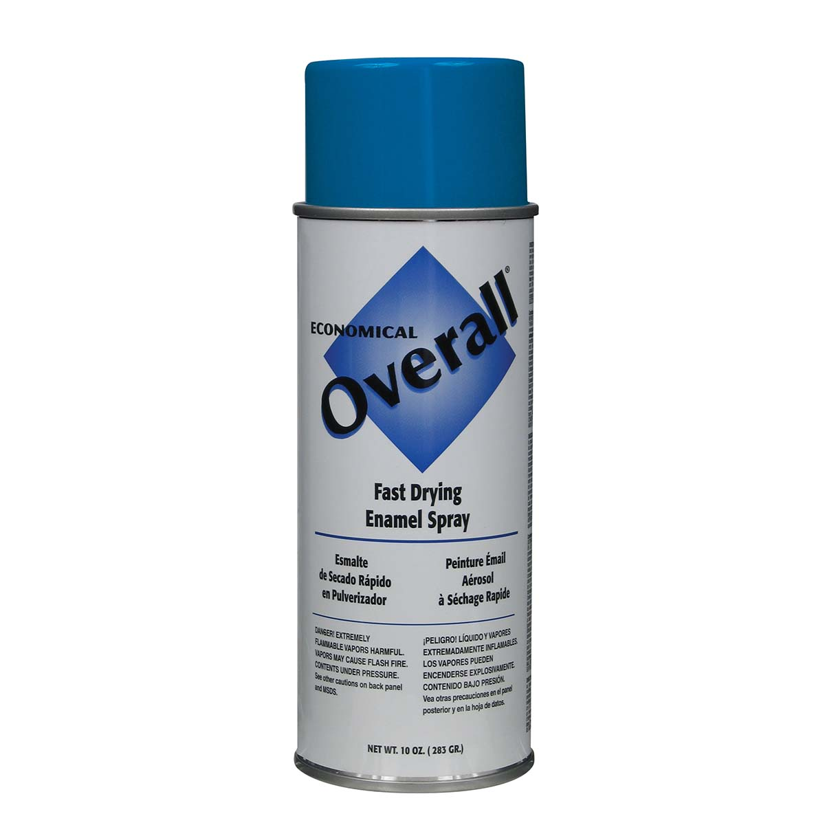 Rust-Oleum V2408830 Overall Economical Fast Drying Enamel Aerosols - Pack of 6 GLOSS BLUE