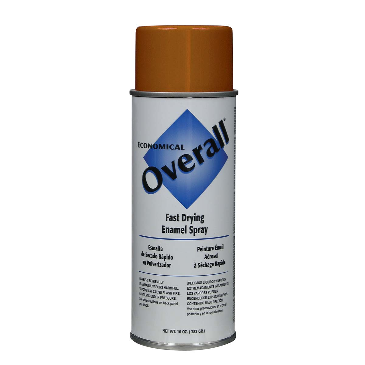 Rust-Oleum V2414830 Overall Economical Fast Drying Enamel Aerosols - Pack of 6 GLOSS ORANGE
